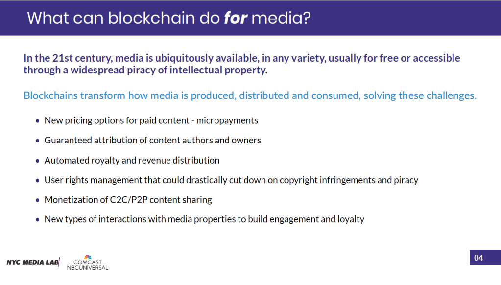 what blockchain can do for media