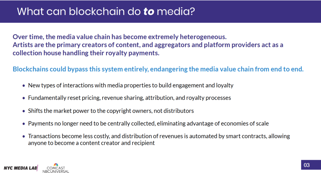 what blockchain can do to media
